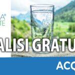 Analisi Acqua Gratuita - Analizza Gratis l'Acqua di Casa Tua